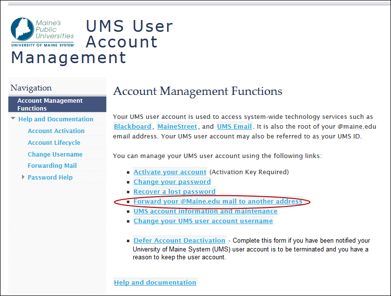 UMS User Account Management