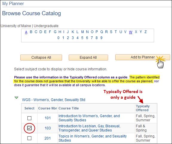 Browse Course Catalog